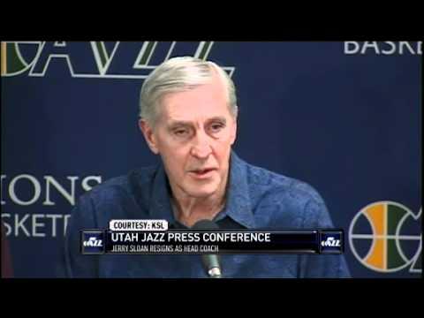 Jerry Sloan retires from Utah Jazz Job