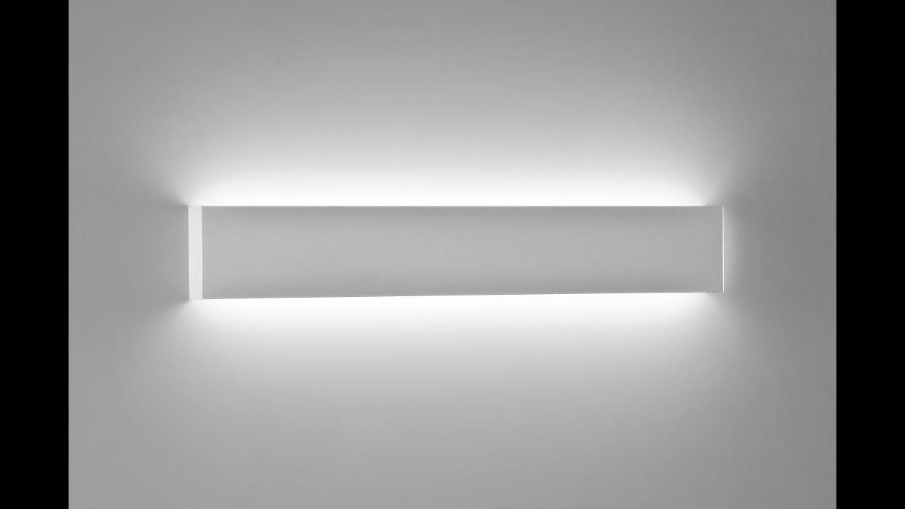 Applique led moderno da parete rettangolare metallo bianco