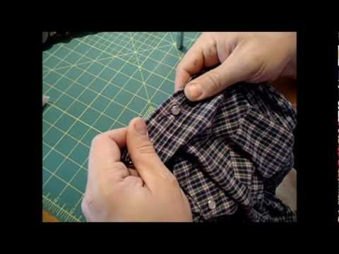 How to fix a pearl snap shirt