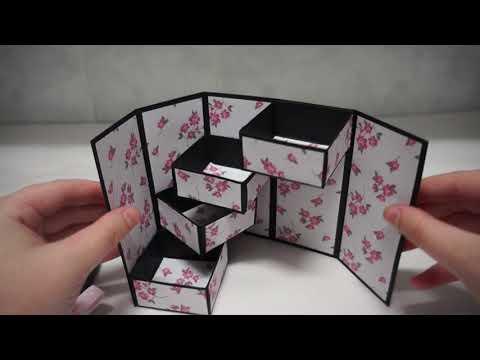 Secret Stepper Box | DIY Jewellery Box | Paper Craft