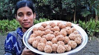 Flattened Rice Laddu Recipe | Bengali Chirar Moa | Village Style Cooking By Street Village Food