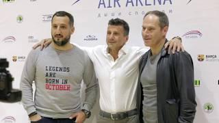Официальное открытие Air Arena на Новой Риге. Виктор Дробыш, Арарат Кещян, Михаил Шац.