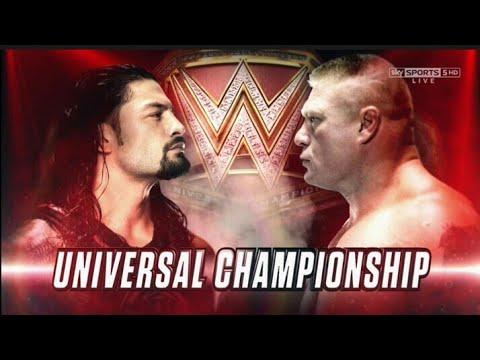Brock lesnar vs Roman reigns Wrestlemania  for Universal championship