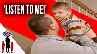 Dad Behaves Like A Cop At Home With Kids  | Supernanny