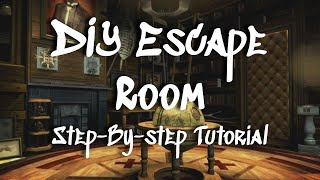 Diy Escape Room || Step-by-step Tutorial || Moderate Difficulty Travel Theme Room For Adults & Teens