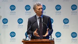 El presidente Macri encabeza la presentación de los resultados del programa Justicia 2020