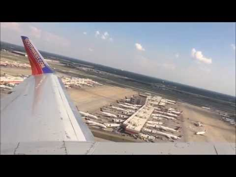 Southwest airlines ATL-HOU  Boeing 737-300 (Takeoff to Landing).