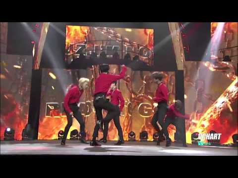 [HD]160410 VIXX  Chained up THE 4TH V CHART AWARDS offical LIVE Chinese Ver.
