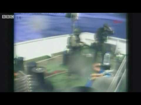Israeli Attack on aid for Gaza ship - israel denies the killing..flv