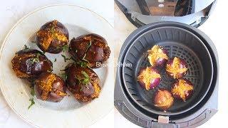 Air Fryer Stuffed Baby Eggplants Video Recipe | Bhavna