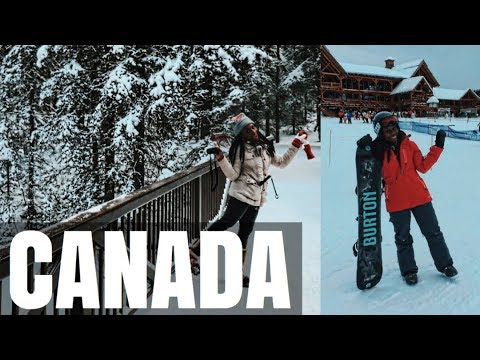 CANADA TRAVEL VLOG | FIRST TIME SNOWBOARDING...