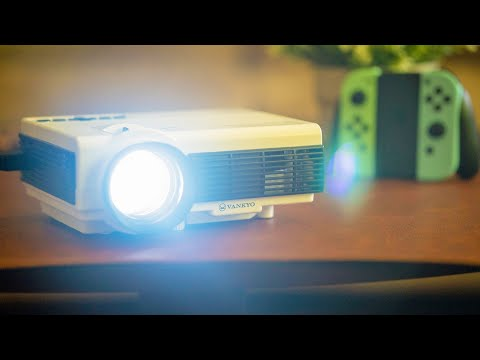VANKYO Leisure 3W LED Portable Projector Review | Big Screen Gaming UNDER $100! | Raymond Strazdas