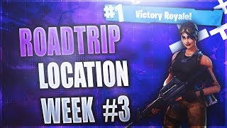 Secret Week 3 Chargementscreen emplacement! (Roadtrip #3) Fortnite Week 3 Challenges Saison 5
