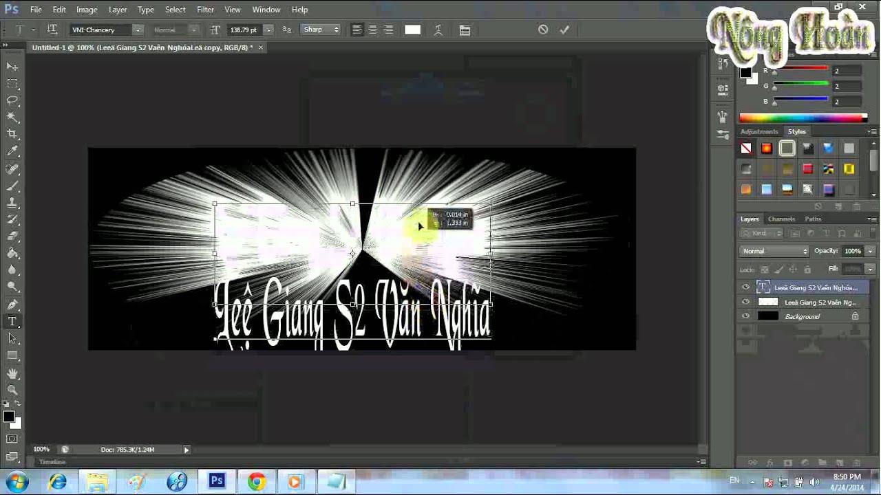 hướng dẫn làm ảnh bìa facebook lung linh bằng photoshop cs6
