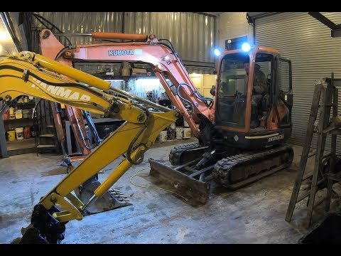 Working On The New Kubota Excavator