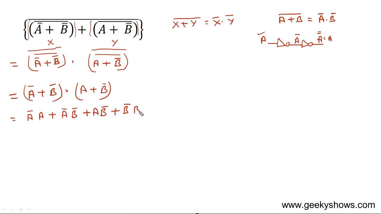 Boolean Algebra Tutorial Pdf