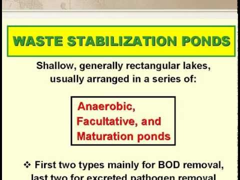 waste stabilization pond design 2 of 7 youtube