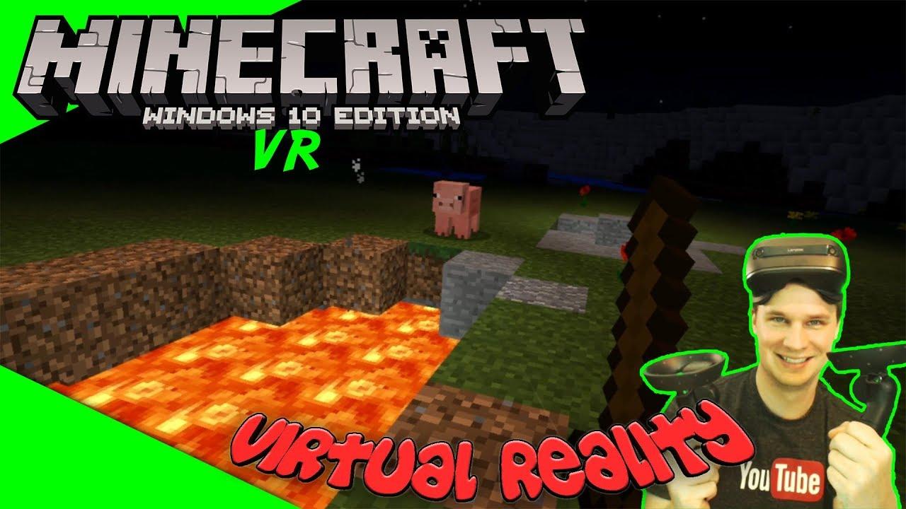 Minecraft Mit Windows Mixed Reality Brille Lets PlayGameplay - Minecraft vr spielen