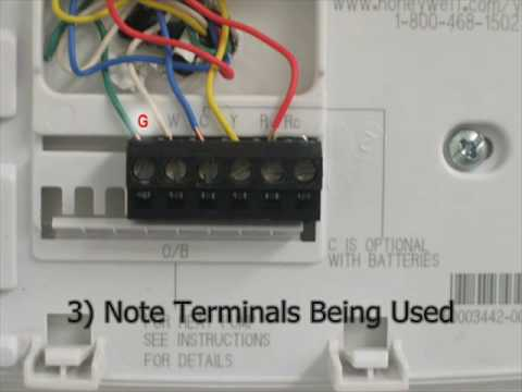 determining your thermostat type youtube rh youtube com Honeywell Digital Thermostat Wiring Diagram Honeywell Digital Thermostat Wiring Diagram