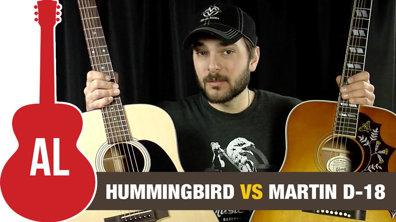 Gibson Hummingbird vs Martin D18 - which is the best acoustic guitar?