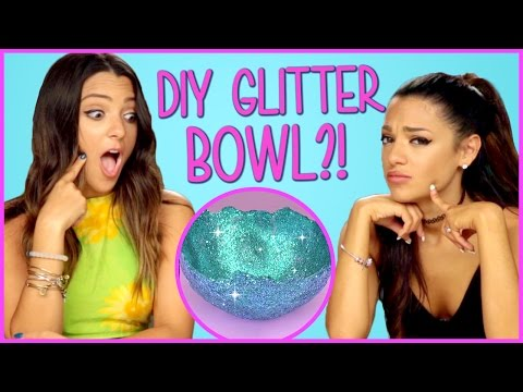 Thumbnail: DIY Glitter Bowls?! | Niki and Gabi DIY or DI-Don't