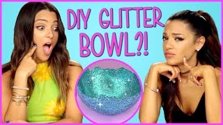 DIY Glitter Bowls?! | Niki and Gabi DIY or DI-Don't