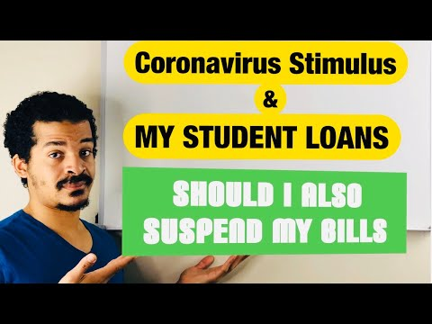HOW CORONAVIRUS STIMULUS PACKAGE IMPACTS YOUR STUDENT LOANS And HOW AM I HANDLING MY BILLS