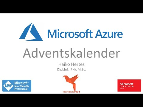 Microsoft Azure Adventskalender ☁ Jeden Tag ein neues Video im Advent