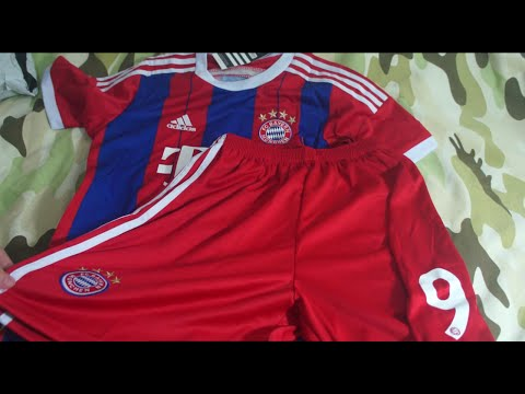 unboxing kit camisa bayern de munique 2014 2015 infantil aliexpress
