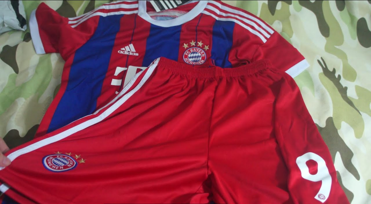 unboxing kit camisa bayern de munique 2014 2015 infantil aliexpress ... 5df485e87a610