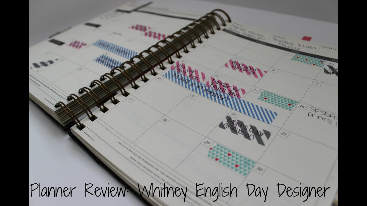 My daily planner review whitney english day designer for Designer planners