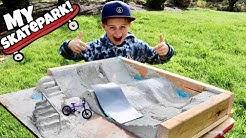 I Built A Skatepark! BMX/Fingerboard
