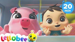 Animals Train Song + More! Little Baby Bum | Kids Cartoons | Children's Stories