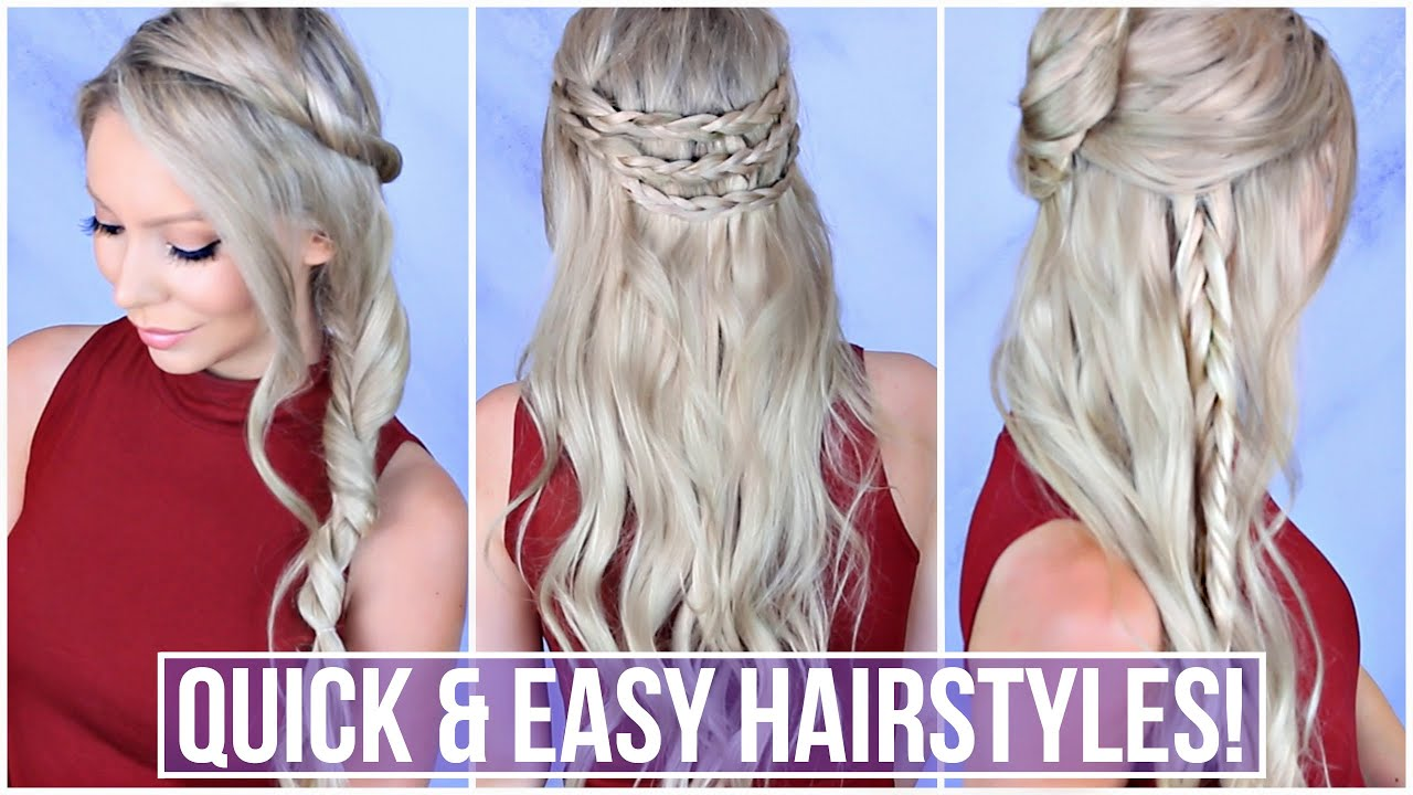 EASY 5 Minute Hairstyles