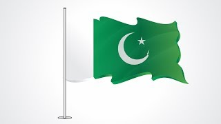 14 August How to make Pakistani Flag in Corel Draw x5 in urdu Kya Seakhein