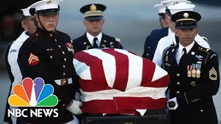 Watch Live: John Mccain Honored In Ceremony At U.s. Capitol   Nbc News
