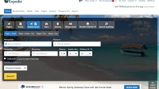 How to book a flight on Expedia.com