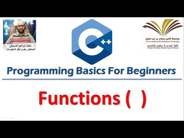 8- Programming with C++ , Functions  برمجة