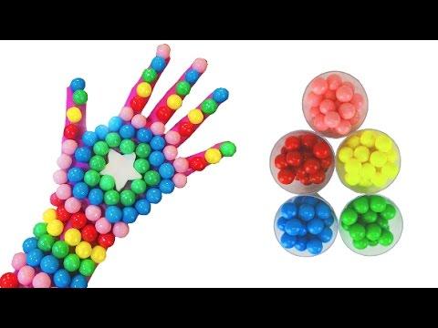 Finger Family Play Doh Stars Kids Learning Finger Painting Nursery Rhymes