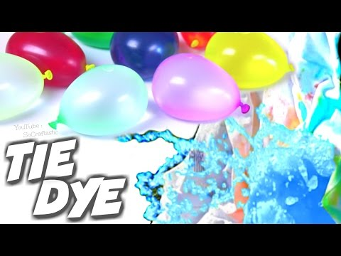 TIE DYE With BALLOONS - Easy Tie-Dye How To   SoCraftastic