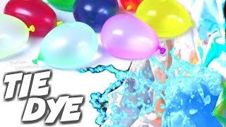 DIY WATER BALLOON TIE DYE Shirts! How to Tie-Dye with BALLOONS - SoCraftastic