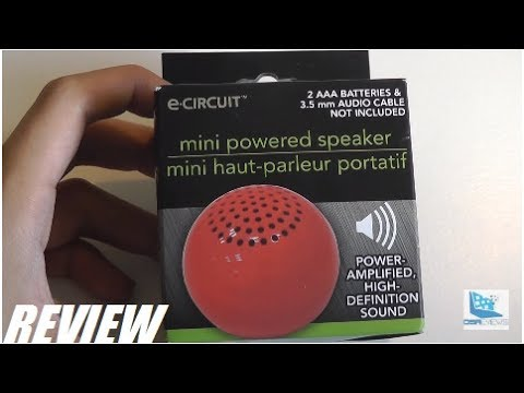 High-Definition sound Power Amplified Red color Mini Powered Speaker