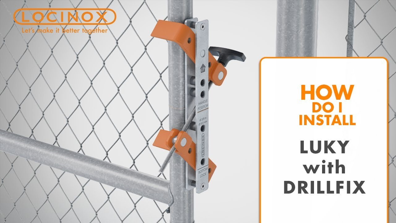Luky Gate Lock On Chain Link With Drill Fix Drilling Jig