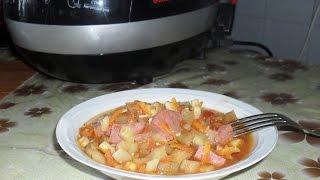 Овощное рагу с колбасой в мультиварке SUPRA MCS- 5201