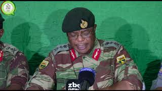 Breaking Army Commander General Chiwenga press conference on latest Developments