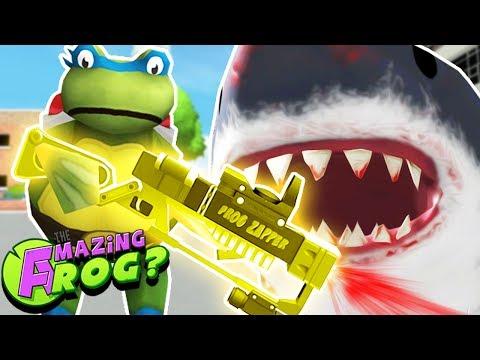 TEENAGE MUTANT NINJA FROGS & THE LEGENDARY SHARK ZAPPER||Amazing Frog Gameplay/Funny Moments Part 39