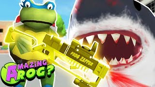 TEENAGE MUTANT NINJA FROGS & THE LEGENDARY SHARK ZAPPER||Amazing Frog Gameplay/Funny Moments Part 39