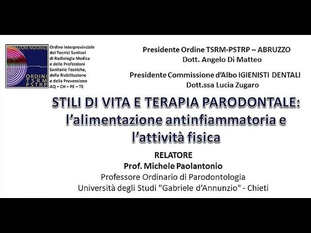 Stili di VIta e Terapia Parodontale Prof. Paoloantonio