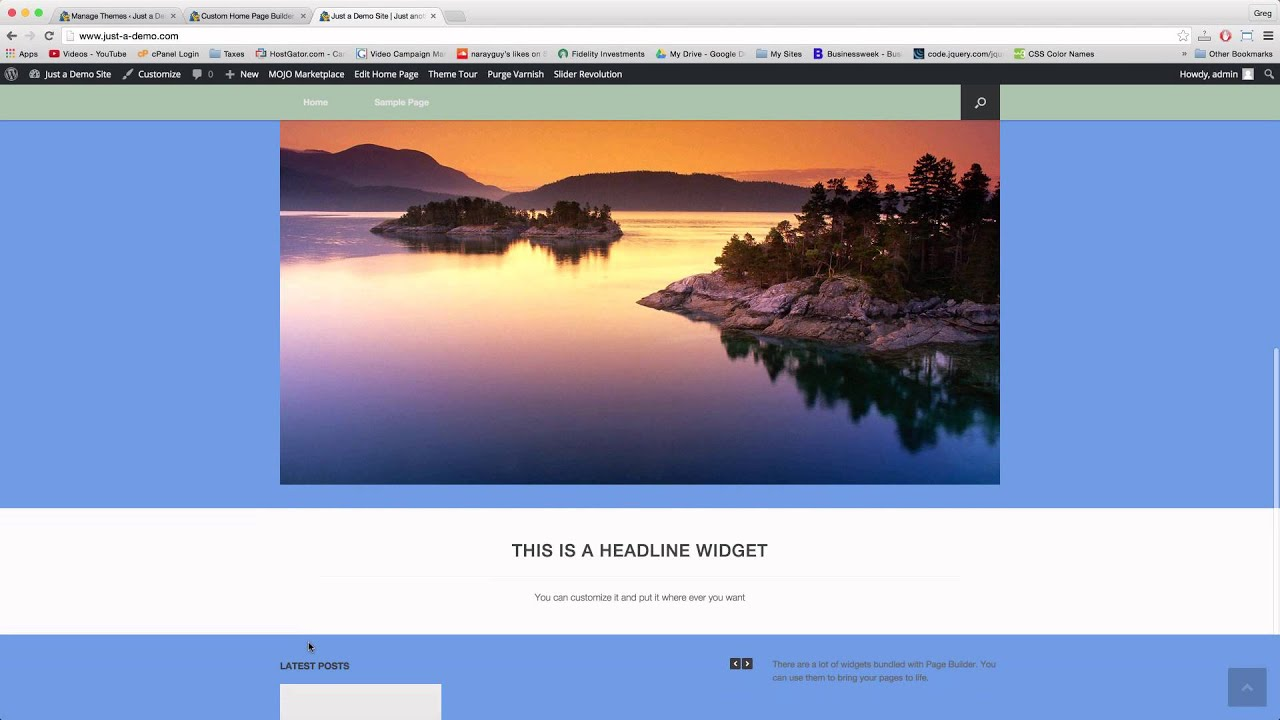 creating full width pages wordpress youtube
