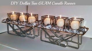 DIY Dollar Tree Candle Table Runner - Easy Diy - DIY Centerpiece
